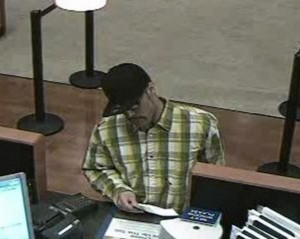 Suspect at Chase in Natomas 11/29/2012. Photo courtesy FBI.