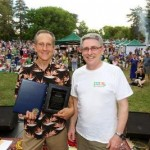 2012 Award Recipient Jeff Harris with Councilman Cohn at East Portal Park. / Courtesy Photo