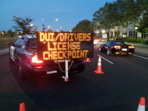 The checkpoint is located on Del Paso Road at Five Star Way. / Photo by Marc Laver