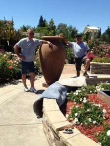 Rose Garden Gets New Fountain in Time for Ceremony