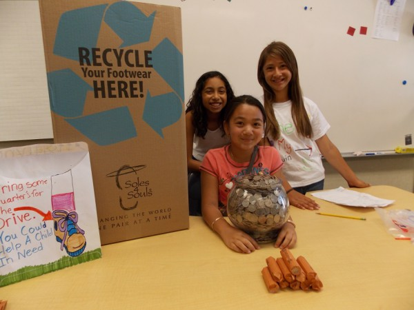 Final day of the quarter drive,from left to right, Isabella Zaragoza, Celina Nguyen, Isabel Gatdula.