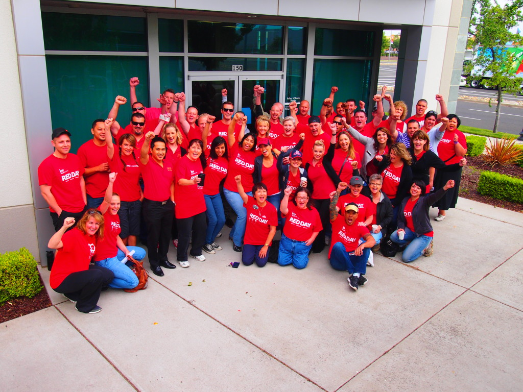 Keller Williams Realty associates from Natomas ready for RED Day.