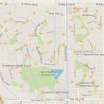 Map where residents said the plane flew low overhead and, in some cases, reportedly sprayed homes. / NatomasBuzz.com