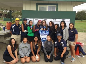 The Inderkum High School 2014 championship girls golf team.