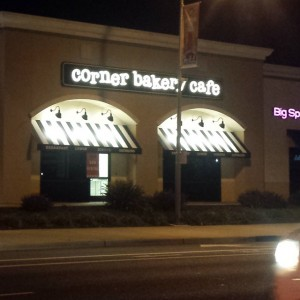 Signage is now up for the new Corner Bakery Cafe under construction in Natomas. / Photo: N.Kong-Vasquez