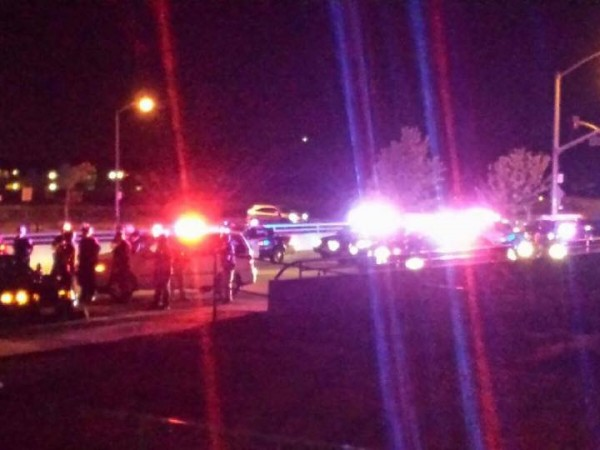 Police respond to report of shots fired near home where suspect in yesterday's carjacking died in Natomas. / Photo courtesy Carmen Quintero