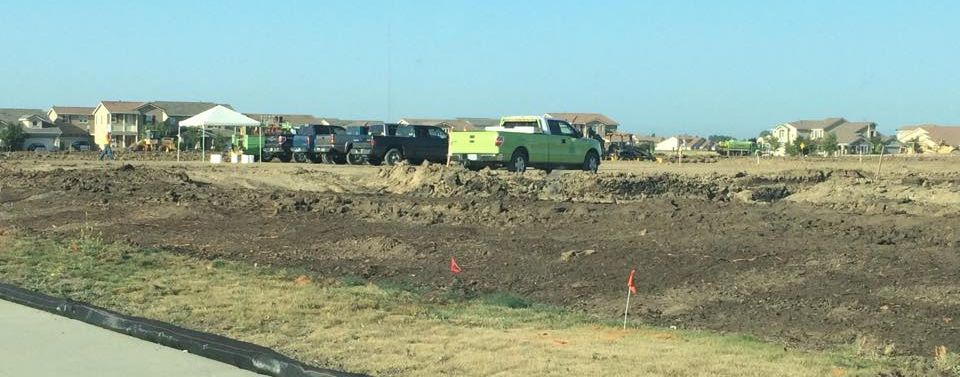 Pre construction work was already under way by June 4 of Natomas Central Drive. / Photo: A. Wells
