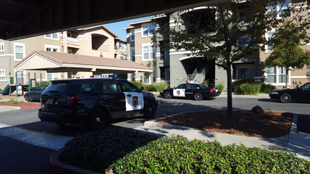 A shooting occurred on the 1800 block of Club Center Drive this morning in Natomas. / Photo: Marc Laver