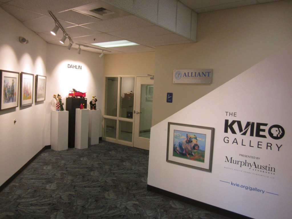 Mr. Piggy Welcomes Visitors to the KVIE Gallery. Photo: Sandy Thomas