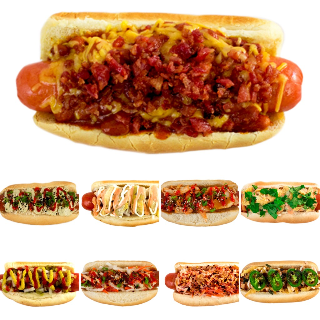 Gourmet fusion dogs which range from Kyoto Fire to Houston Honcho. / Photo: Umai