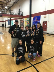 Natomas High girl wrestlers after Dec. 20 match. / Photo: J. Arsich