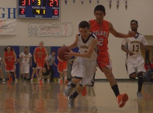 Nef Torres drives to the basket in the fourth quarter.