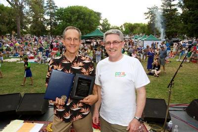 2012 Award Recipient Jeff Harris with Councilman Cohn at East Portal Park. / Courtesy Photo