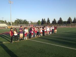 Natomas High girls soccer team on Senior Night.