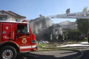 Fire Burns West Natomas Home