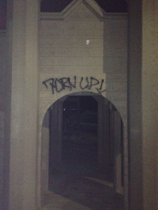 Vandals Tag Fort Natomas with Graffiti