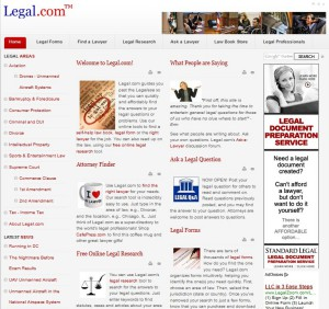 Legal.com website