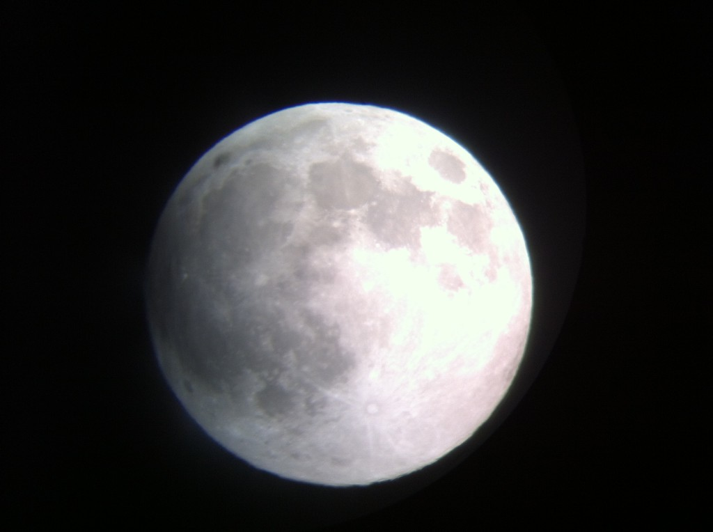 Taken with an iPhone through a telescope from Rockmont Circle. / Photo by Tony Perez