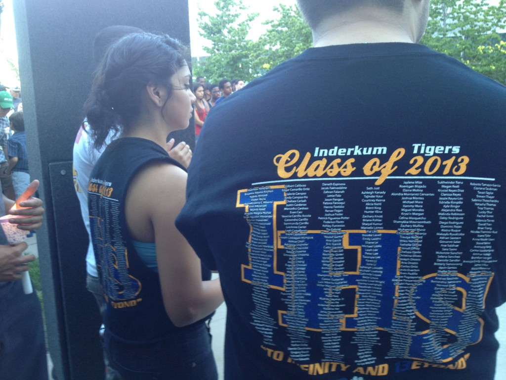 Recent grads returned to the Inderkum campus to remember Dylan Akins.