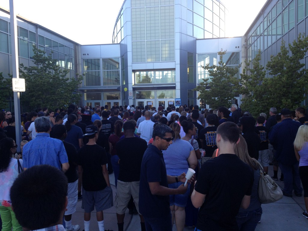 Hundreds gathered at Inderkum High School on Sunday to remember Dylan Akins.