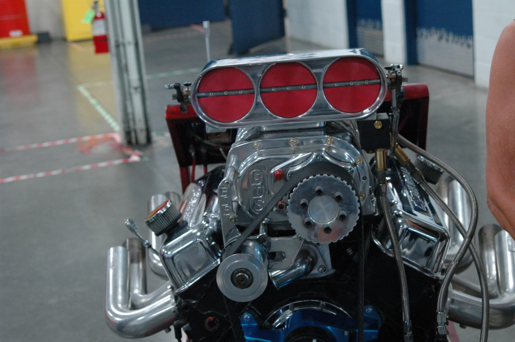 The donated Chevy big-block 454-cubic inch engine. / Photo by Jeremiah McWright