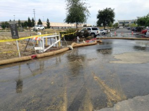 Parking lot off Truxel & Arena. / Photo by J. McWright