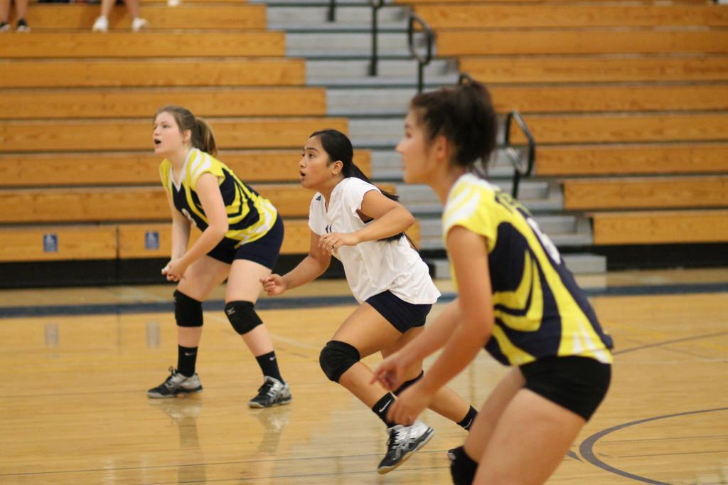 Inderkum girls volleyball team (5-2) beat Franklin High School on Thursday 3-2. / Photo: J. McWright