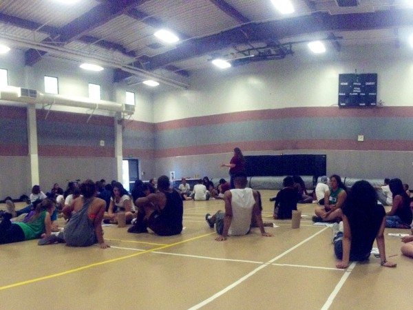 Link crew group leaders trained for two days before school started. / Photo: Jeremiah McWright