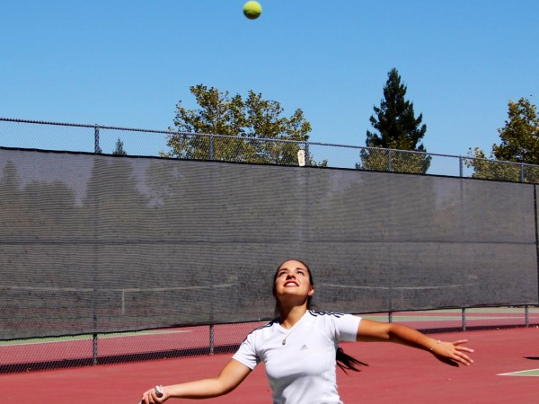Julia Fagundes, 16, a junior from Brazil also plays on the school's tennis team.