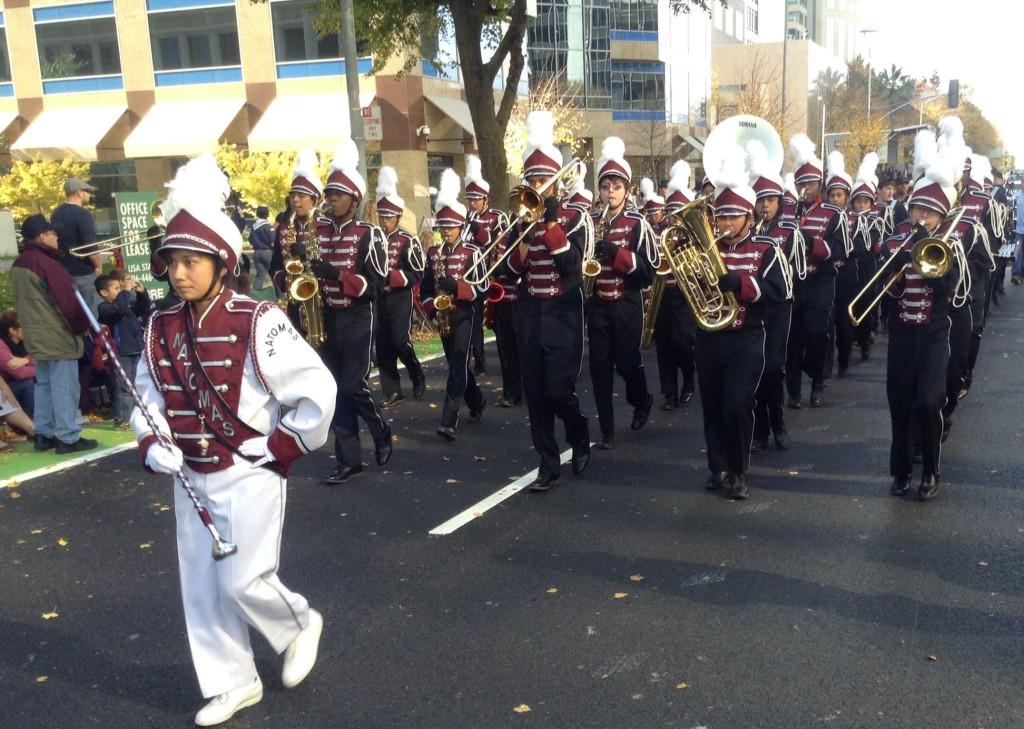 Natomas High School marching band.