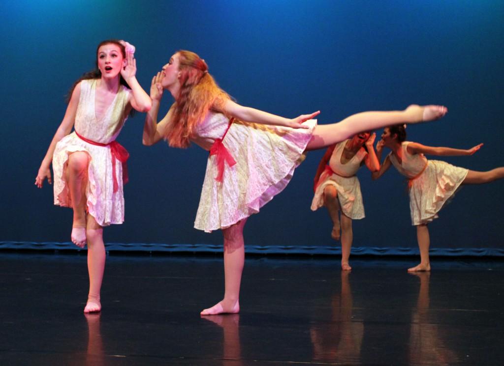 Haley Finerman (left) and Rachel Finerman perform during the 2012 Winter Dance Celebration.