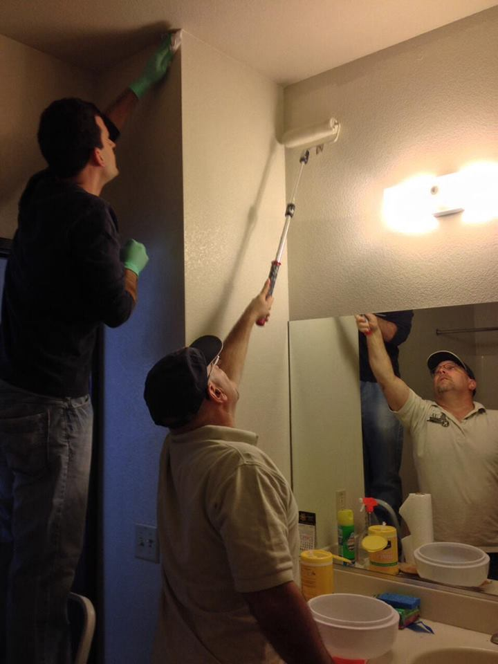 Cleaning the Natomas Kiwanis club's room at the Kiwanis Family House is usually done once a year and includes fresh paint, carpets cleaned and other replacements. / Courtesy Photo