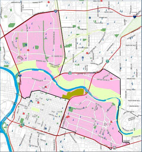 Map of City Council District 3 / Source: City of Sacramento