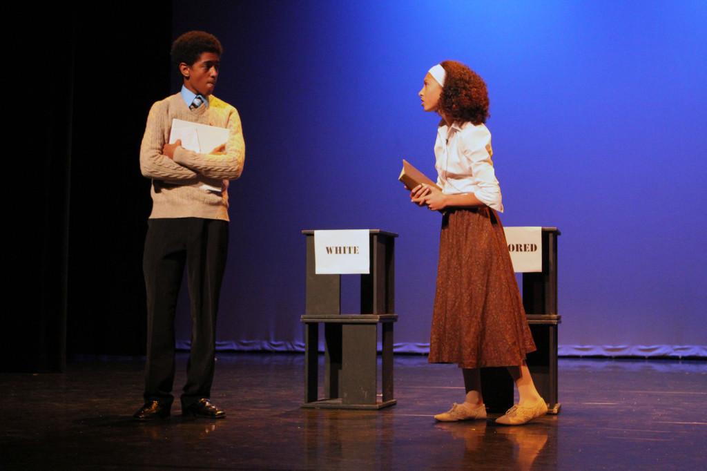 Zalalem Berhanu and Karmyn Rivera perform a scene.