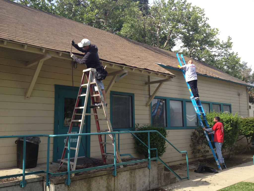 They cleaned, repaired and replaced gutters throughout the property.