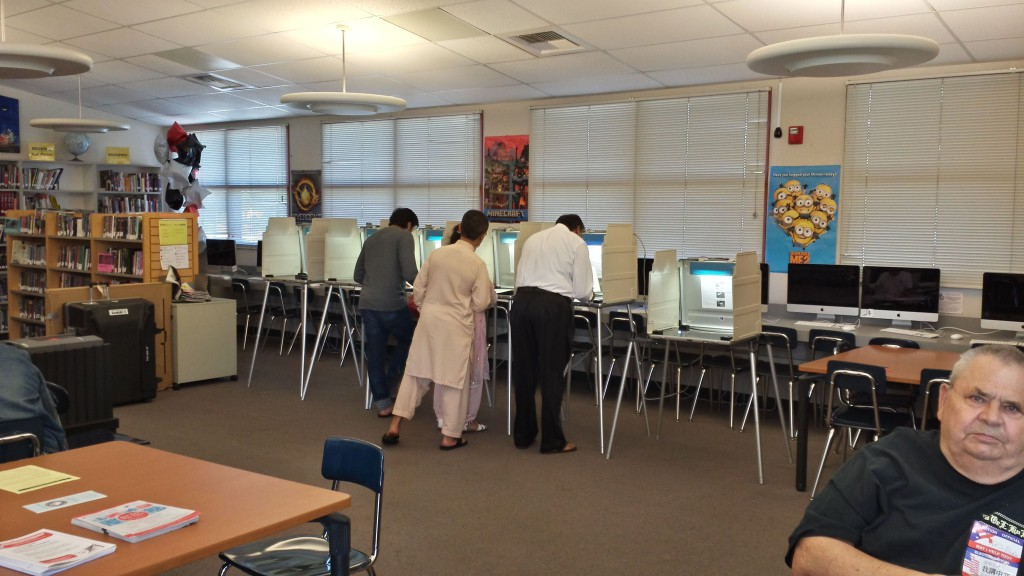 Low voter turnout was reported at many polling places in Natomas. / Photo: Marc Laver