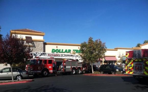 Sacramento Fire responds to blaze at Dollar Tree in Natomas. / Photo: SacFire