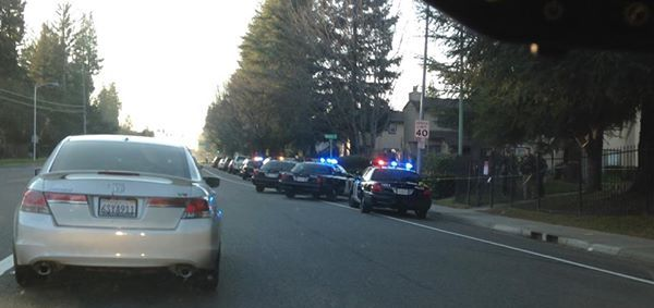 Police respond to the scene of a large fight Jan. 23 in Natomas. / Photo: D. Lopez
