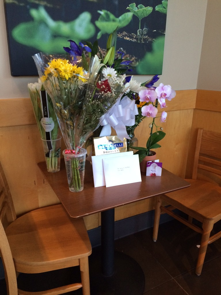 Memorial for Zach at Starbucks where he worked as a barista in Natomas. / Photo: A. Wells