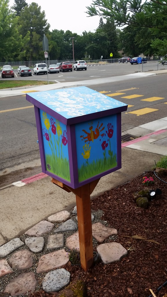 The first Free Little Library is located near Jefferson Elementary School in Natomas. / Photo: R. Dwyer-Voss