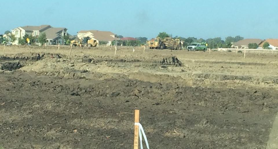 Pre construction work was well under way as of June 4 off of Natomas Central Drive. / Photo: A. Wells