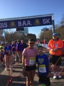 Jack Butler at the start of the Boston Marathon 5K for young runners. / Courtesy Photo