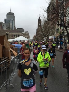 Melissa after running the Boston Marathon earlier this year. / Courtesy Photo