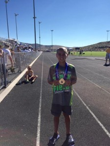 Jack Butler after his 1500m win in Reno earlier this month. / Courtesy Photo