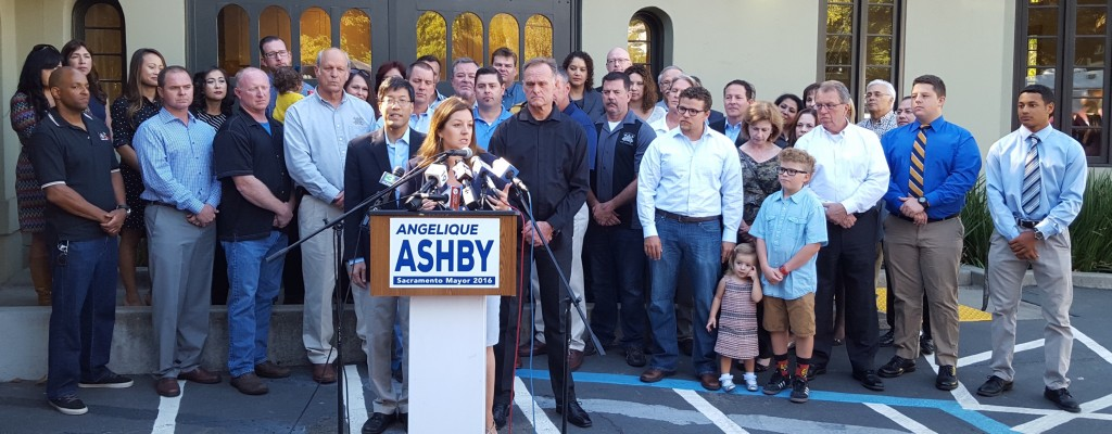 Angelique Ashby announces her candidacy for Sacramento city mayor. / Photo: M. Laver
