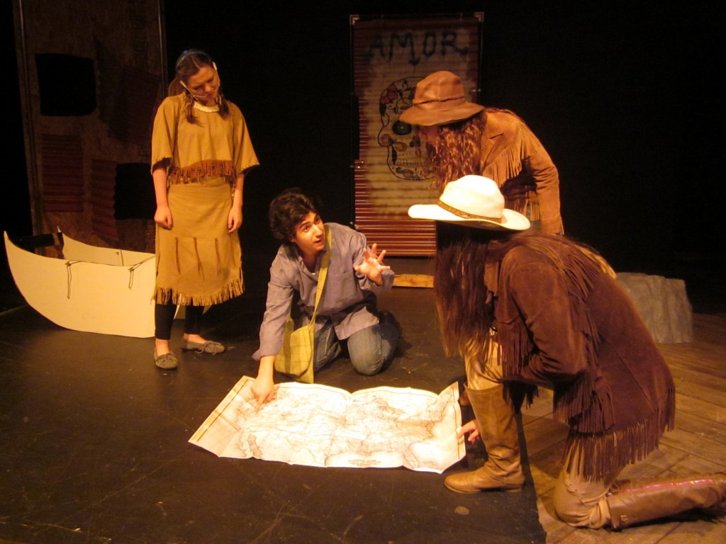 Juan Jose advising Lewis Clark while Sacagawea looks on. / Photo: S. Thomas