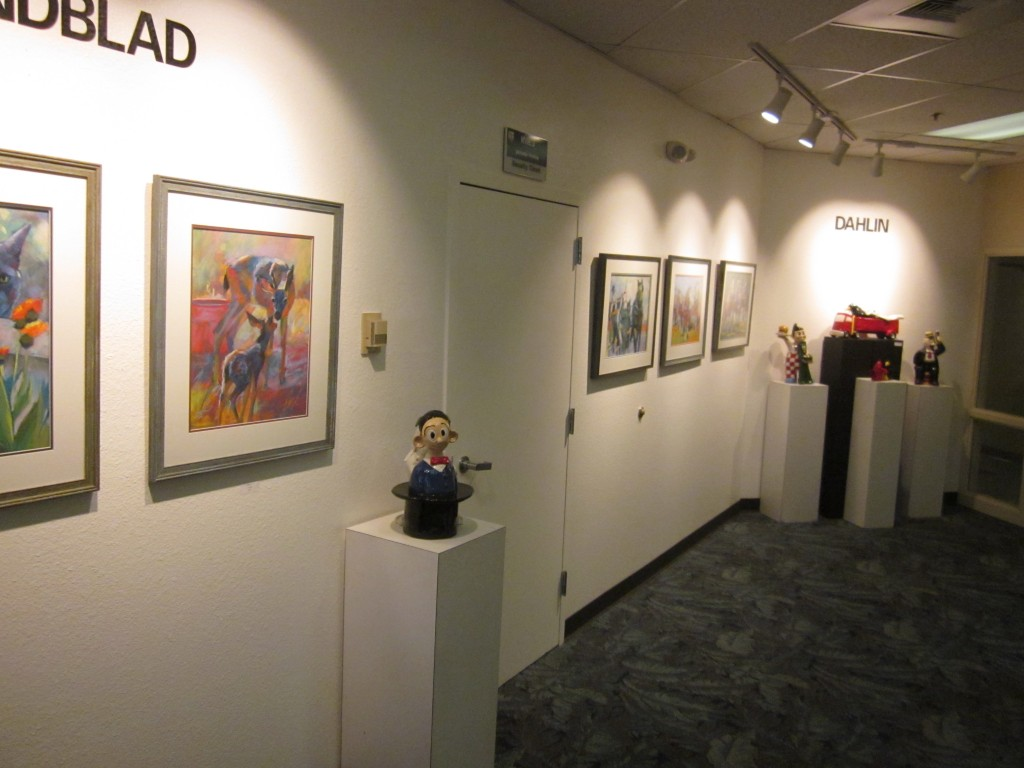 The KVIE Gallery featuring works of Sandy Lindblad and Eric Dahlin. Photo: Sandy Thomas