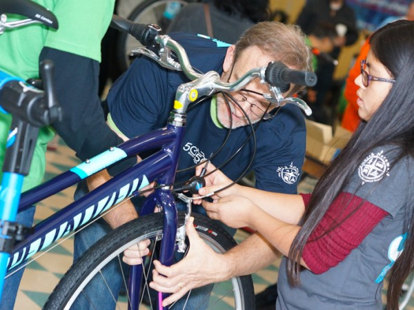 Bike recipients were nominated by members of the community. / Photo: Derek Novaes