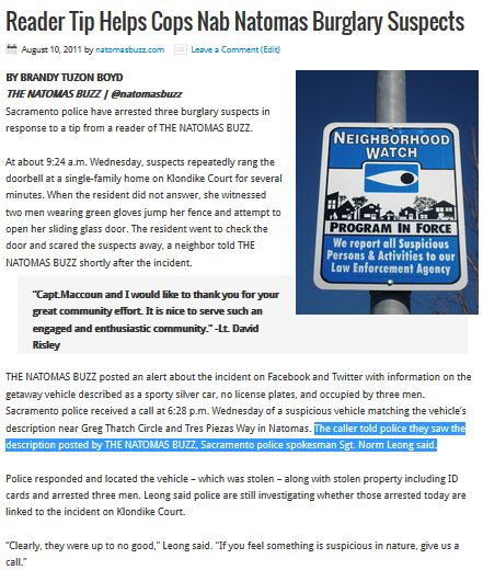 Buzz Reader Helps Cops