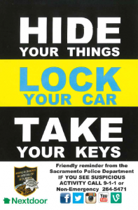 Ask Capt. Oliveira: How to Combat Auto Burglaries